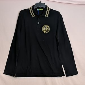 Versace Jeans Crested Long Sleeve Polo